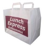 papieren draagtas lunch