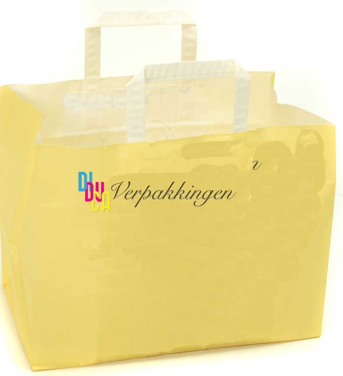 Diduca papieren draagtassen met plat handvat for Papieren zakken bedrukken